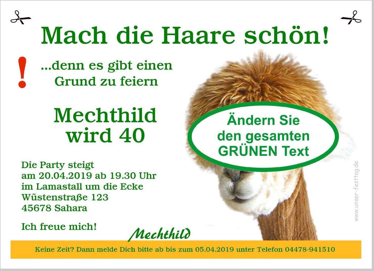 Einladungskarten 40 Geburtstag Einladungskarten 40: Lustige Einladungskarte Zum Geburtstag Originell Tierisch