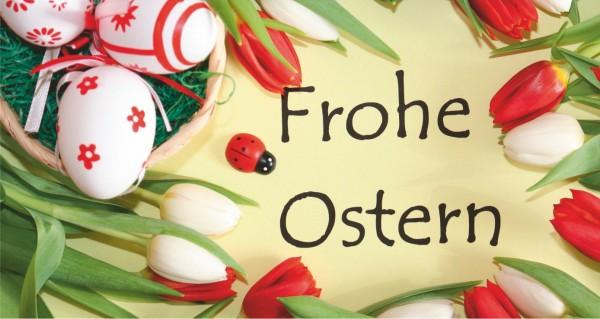 Frohe Ostern mit Marienkäfer