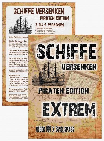 Schiffe versenken - Piraten Edition - EXTREM 2-4 Spieler