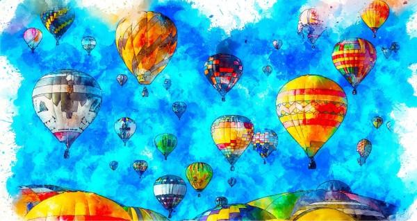 Heißluftballon Zeichnung