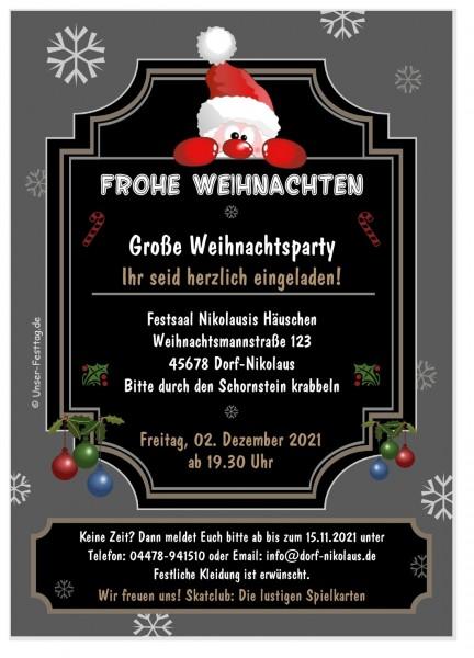 Lustige Einladungskarten Weihnachtsfeier Nikolaus