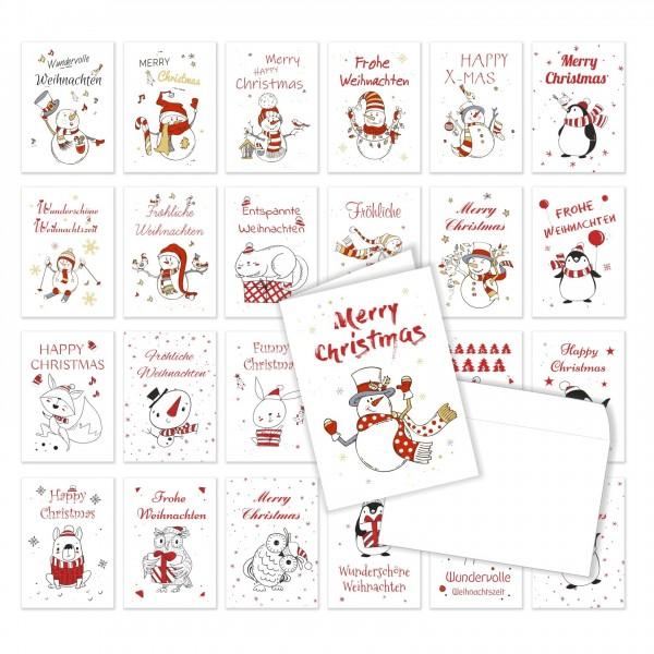 Weihnachtskarten 2020 Klappkarten Doppelkarten Xmas
