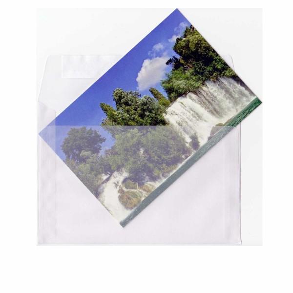 Transparenter Umschlag B6