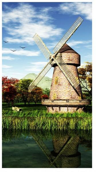 Xxl Postkarte Windmühle Am Wasser