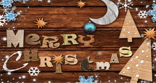 Weihnachtssymbole mit Spruch