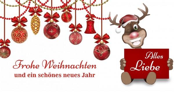 Rudolph wünscht Festtagsgrüße