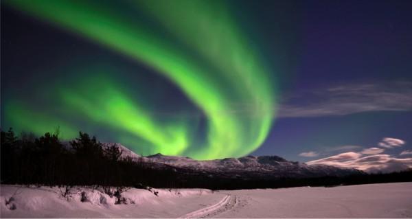 grünes Polarlicht