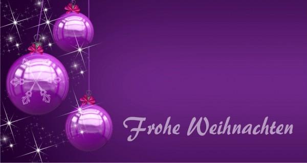 lila Kugel Frohe Weihnachten