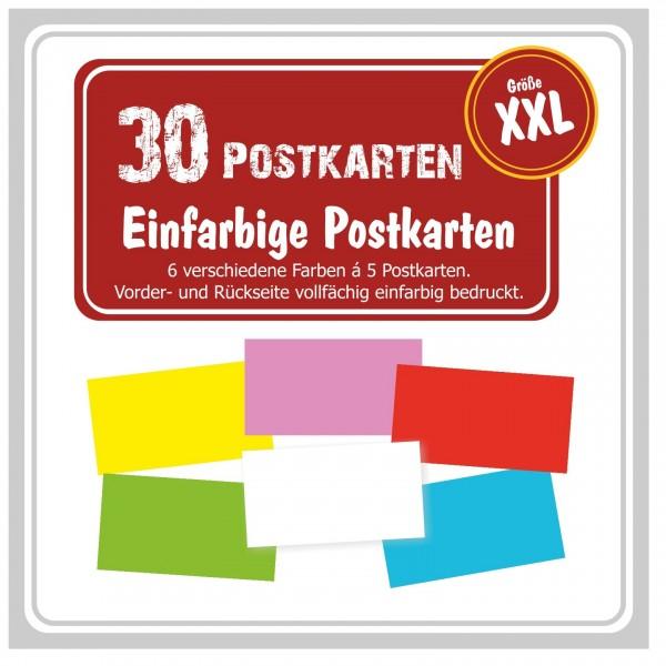 Einfarbige Postkarten Maxi Gross Gewinnspiele