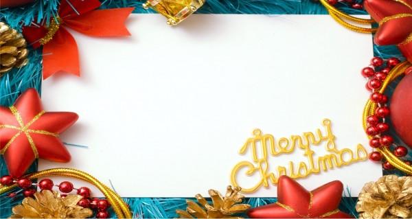Weihnachtskarte mit Textfeld