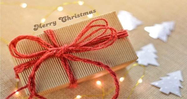 Merry Christmas mit Geschenkschleife