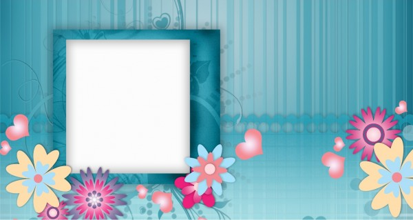 Blumenmuster mit Textblock