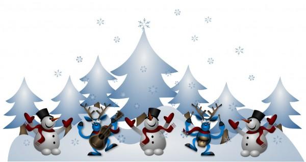 Singende Weihnachtsgruppe