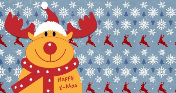 Happy X-Mas wünscht Rudolph
