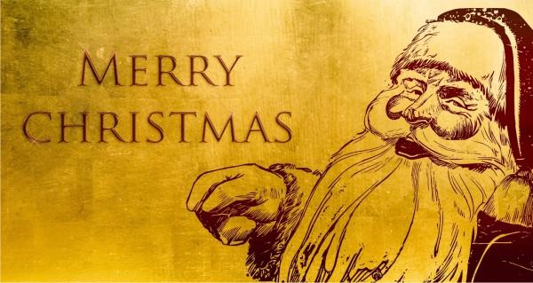 Merry Christmas Retro Weihnachtsmann