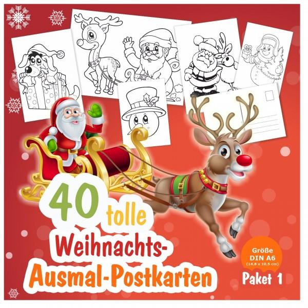 Weihnachtskarten Postkarten Kinder Lustig Originell