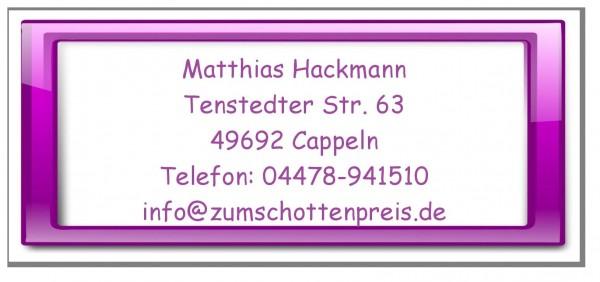 Aufkleber Adressen Pink Violett