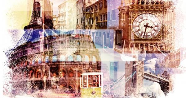 Collage verschiedener Wahrzeichen