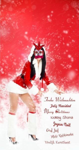 Girl wünscht frohe Weihnachten