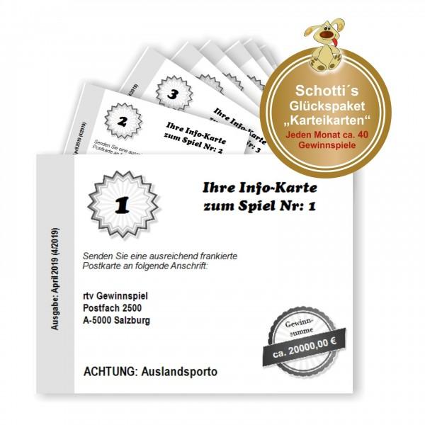 Schottis Glückspaket Gewinnmagazin Karteikarten