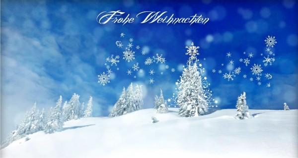 Frohe Weihnachten Winterlandschaft