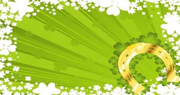 grüne Strahlen mit Hufeisen
