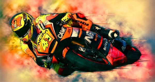 Zeichnung Motorrad