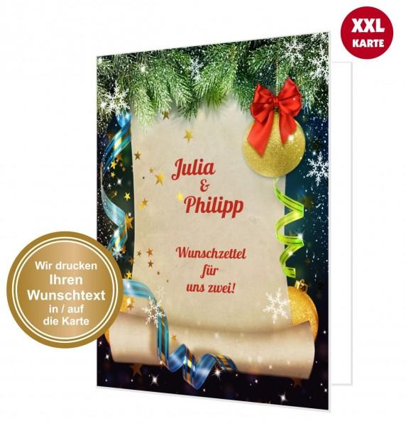 Ideen F303274r Weihnachtskarten.Wunschzettel Fur Uns Zwei
