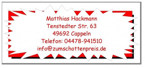 Adressaufkleber Roter Zickzack Rahmen