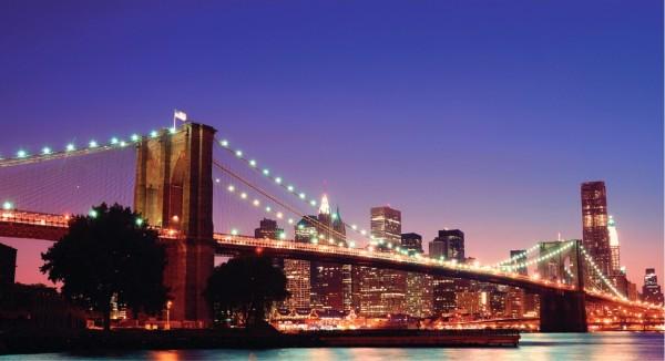 Manhattan skyline bei Nacht