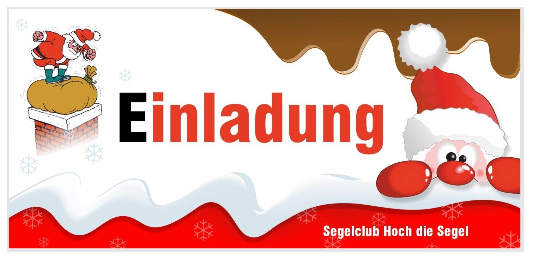 Weihnachtsfeier Einladung Text Lustig.Einladungskarte Schoko Mit Nikolaus