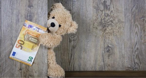 Teddy mit fünfzig Euros