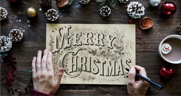 Merry Christmas handgeschrieben