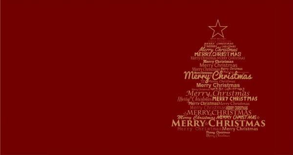 Weihnachtsbaum Merry Christmas rot