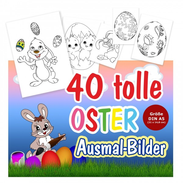 Ausmalbilder Ostern Osterbilder Kinder Kreativ