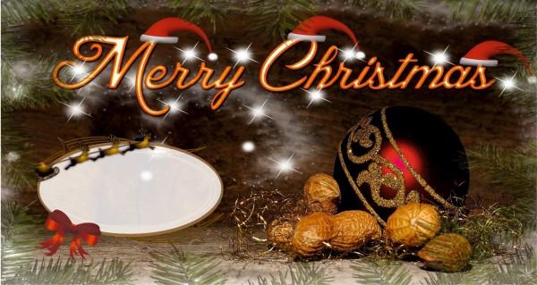 Merry Christmas mit Nüsse