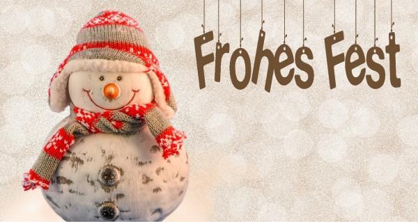 Frohes Fest mit Schneemann