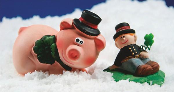 Schornsteinfeger und Glücksschwein