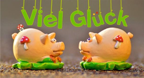 Viel Glück Schweinchen