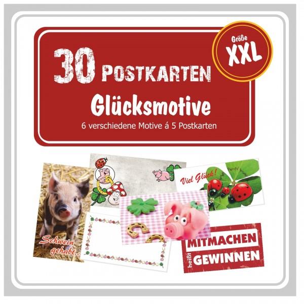 Postkartenpaket Glückspaket Retro Gewinnspiele