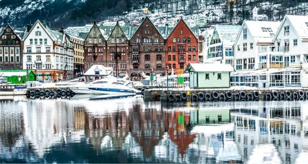 nordische Hafenstadt