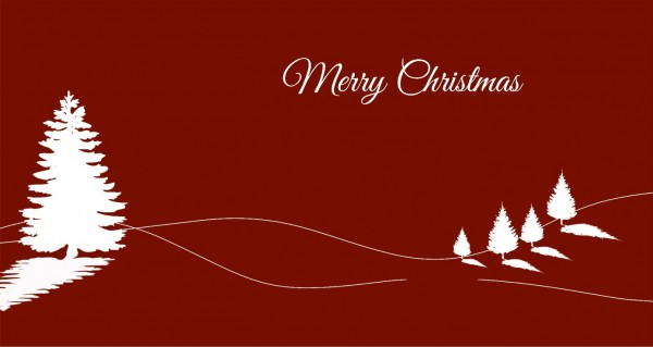 Merry Christmas roter Hintergrund