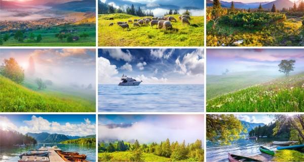 viele Landschaftsbilder