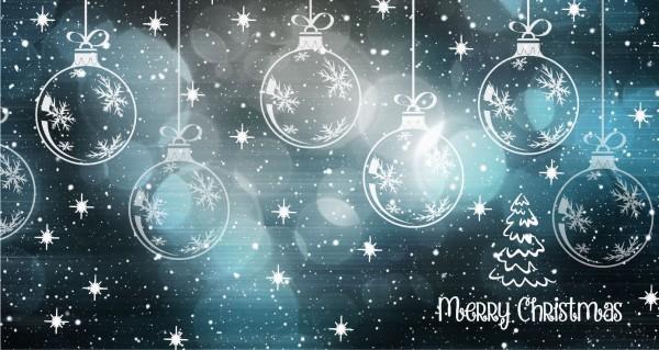Weihnachtskugeln Merry Christmas
