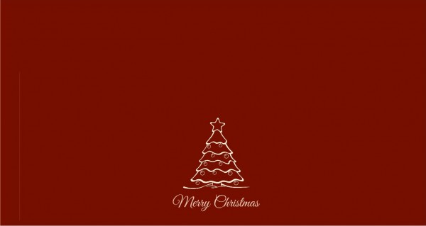 Merry Christmas rot mittig