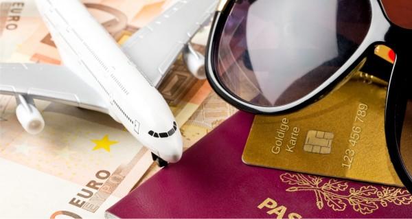 Flugzeug Brille Kreditkarte