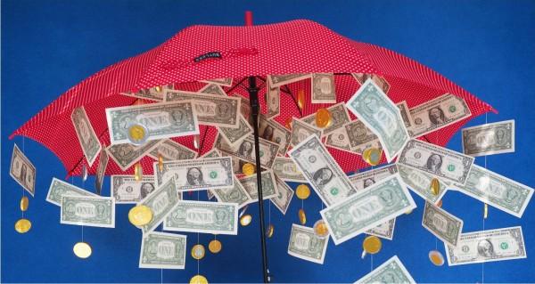 Es regnet Dollarscheine
