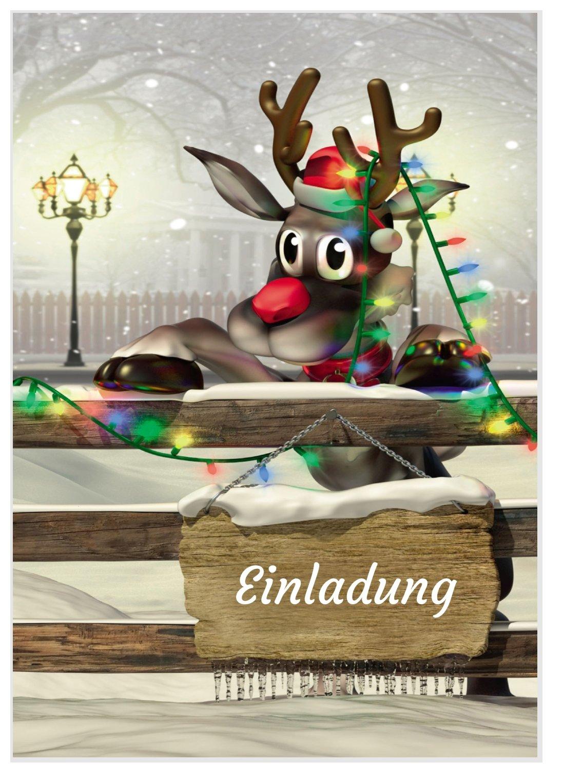 Lustiges Für Weihnachtsfeier.Rudolf Lädt Ein