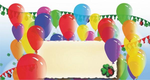 Luftballons mit Freitextfeld