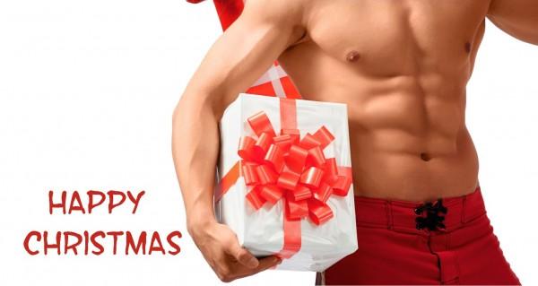 Happy Christmas mit Geschenk
